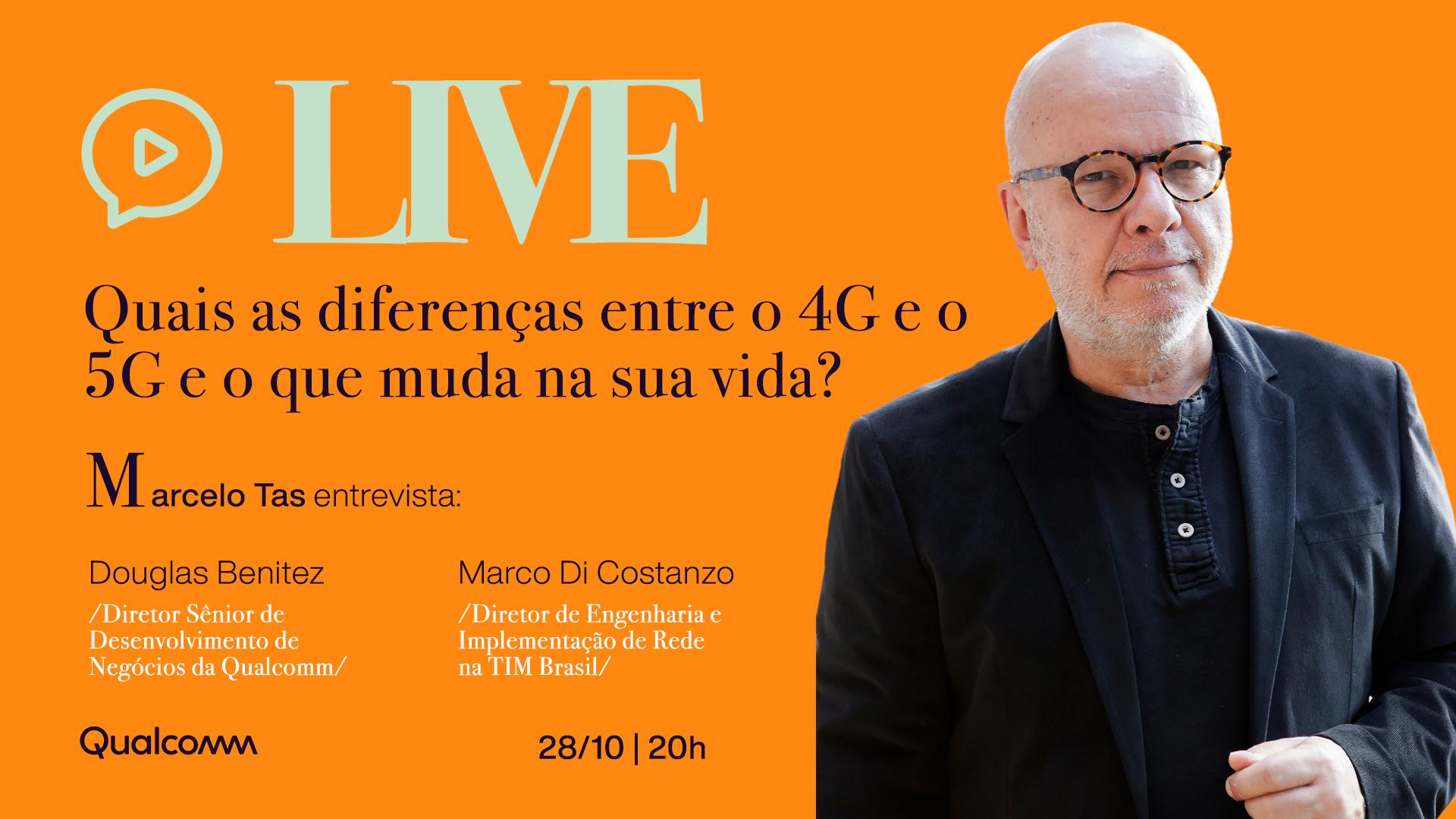 Quais as diferenças entre o 4G e o 5G  e o que muda na sua vida? | LIVE 4 5G | Qualcomm